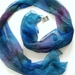 "Hand painted long Silk Scarf "" Paua """