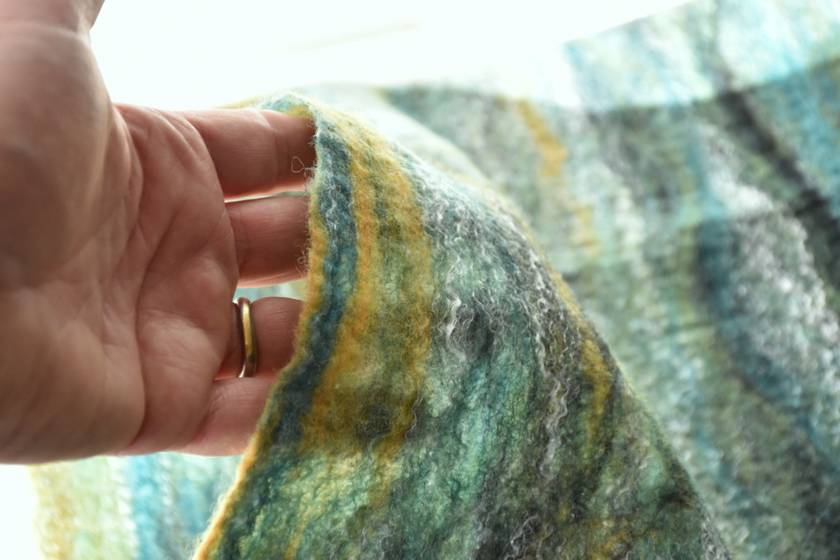 "Merino circular Scarf ""River Gorge""  - NZ Merino Wool"