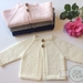 Classic Raglan Cardigan - newborn and 3-6 months