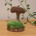 Needle Felted Forest Mushroom