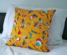 Dr. Suess cushion, yellow contrast Cat in the Hat