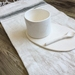 Ceramic Saucer, Mug and Spoon Set