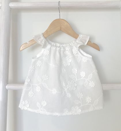 Cotton Lace Baby Top