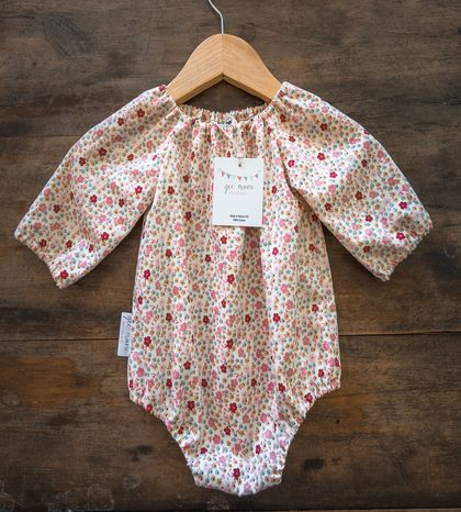 Small Floral Baby Romper Long Sleeve