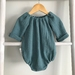 Dusty Green Muslin Romper