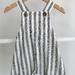 Unisex Linen Overalls Blue Stripe