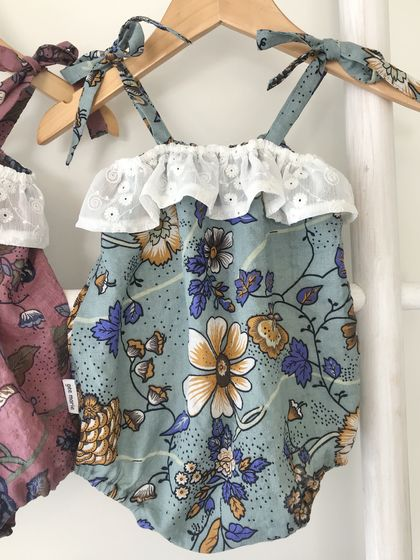 Gemma Playsuit Green Size 12 - 18mths