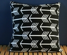 Black & white arrow cushion 46x46cm