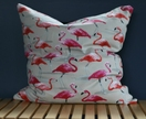 Flamingo cushion 46x46cm