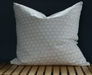 Gold & white hexagon cushion 46x46cm