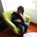 Breastfeeding Scarf and Capsule Cover - 100% Merino Knit in Black