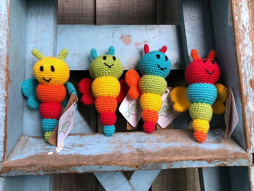 Crochet Amigurumi Butterfly Bug Toy