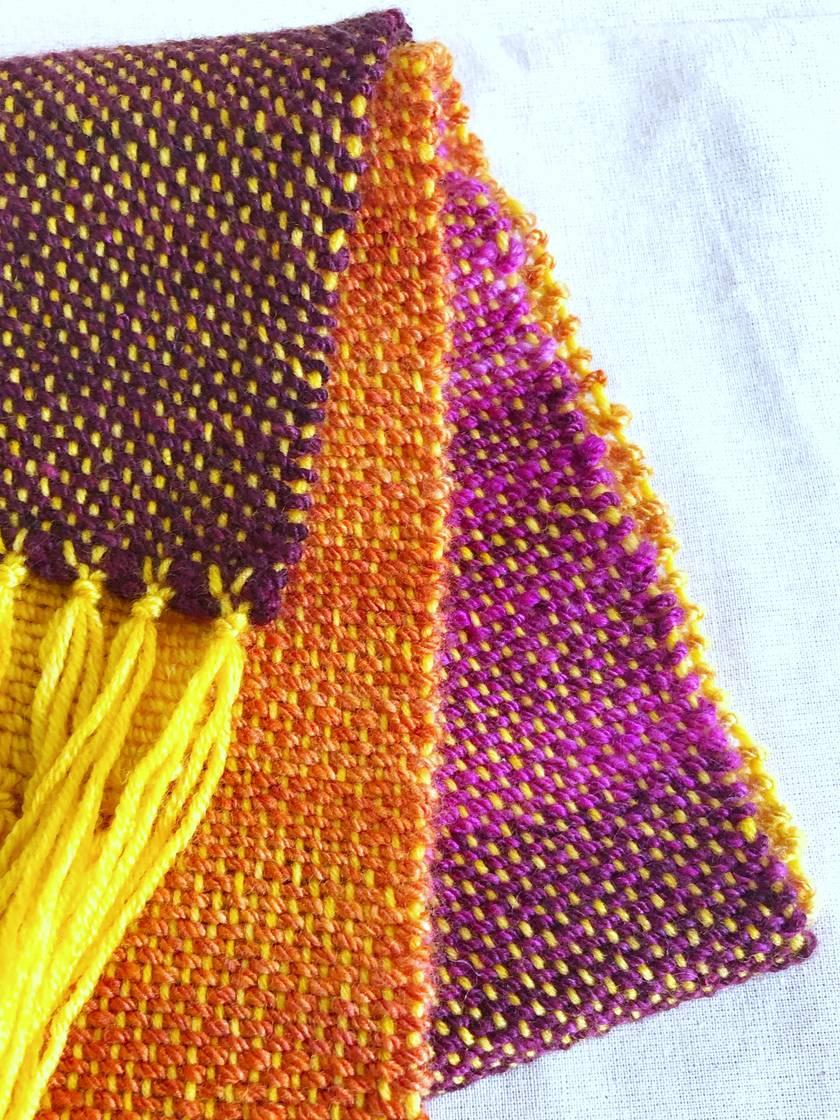 Woven Handspun Wool Scarf