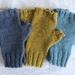 Knit Alpaca Merino Wool Fingerless Mitts