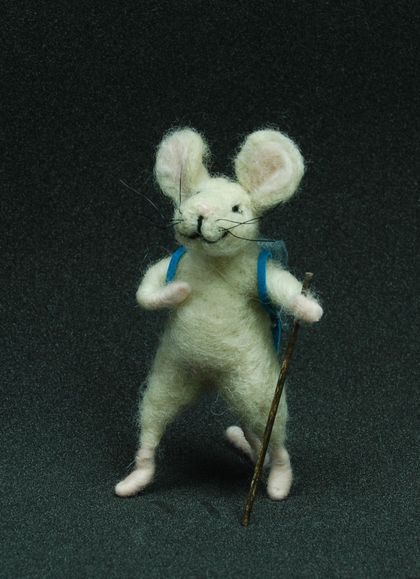Tramping Needle felted mouse