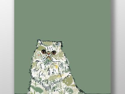Cat prints using 50's fabric and wallpaper. Wall art, Art, Canvas art, Wall art prints, Art prints, Nursery wall art, Nursery art, Artwork.