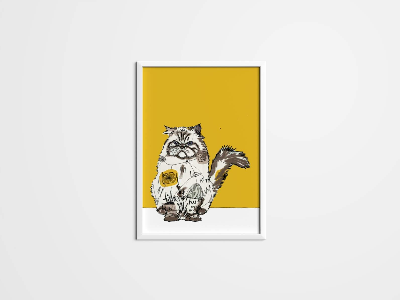 Cat prints using 50\'s fabric and wallpaper. Wall art, Art, Canvas ...
