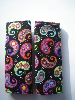 Baby Seat Belt Covers/pads.  Paisley   *Limited Edition fabric*