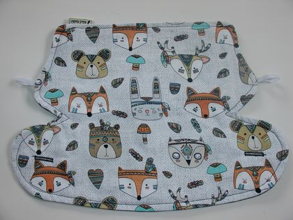 "Drool Bib for Ergo 360 Baby Carrier - ""Tribal Animals"""