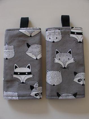 Baby Carrier Suck/Drool Pad - Bandit Fox, Raccoon, Bear - My Best Seller..