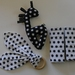 Baby Gift set - Black & White- Rattle, Teether & Belt Pads