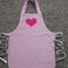 Child's Apron - size 4-6 years - Classic Pink Gingham