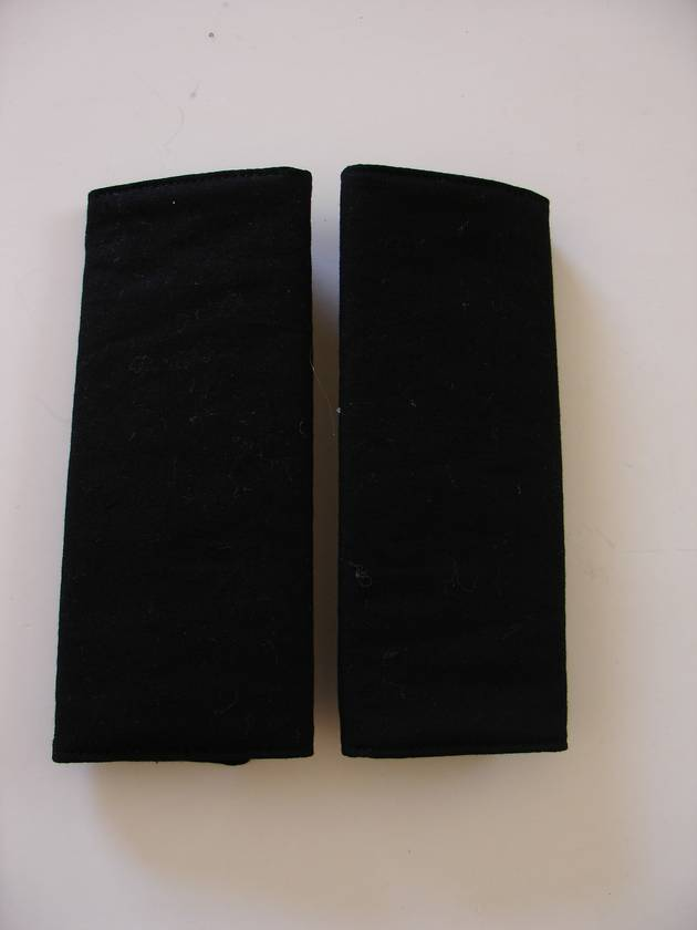 Child S Cotton Seat Belt Covers Pads Quot Just Black Quot Felt