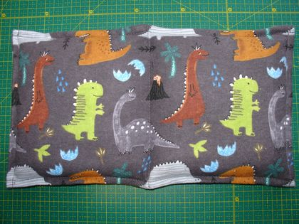 Kid's Organic Flaxseed Heat Pack - Dinosaurs (made from Flannelette)