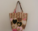 Girls Heart Fabric Fun Bag