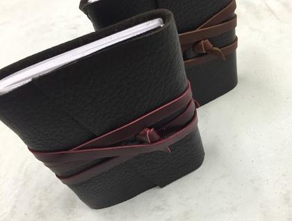 Dark Brown Leather Notebook - 3.5 x 4.5 in