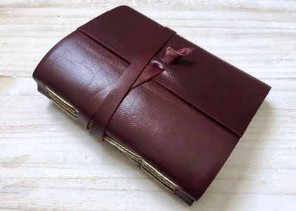 Oxblood Red Leather Journal - 6.5 x 4 inches