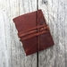 Leather Notebook - Rustic Whisky -  3.5 x 4.5 in