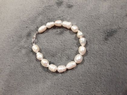 Handcrafted bracelet fresh water pearls