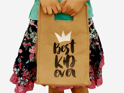 20% OFF SALE - BEST KID EVER LUNCH TOTE