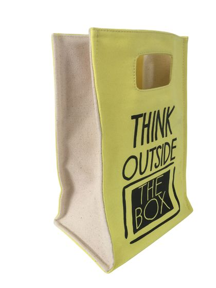 20% OFF SALE - THINK OUTSIDE THE BOX LUNCH TOTE
