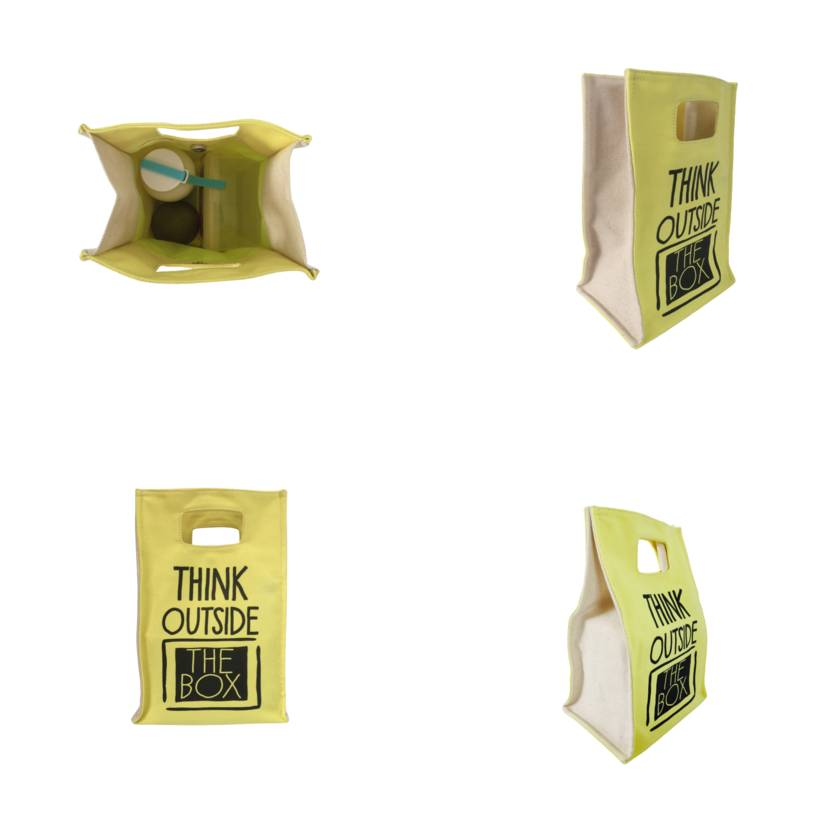 THINK OUTSIDE THE BOX LUNCH TOTE