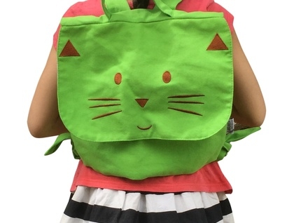 20% OFF SALE - GREEN CAT BACKPACK