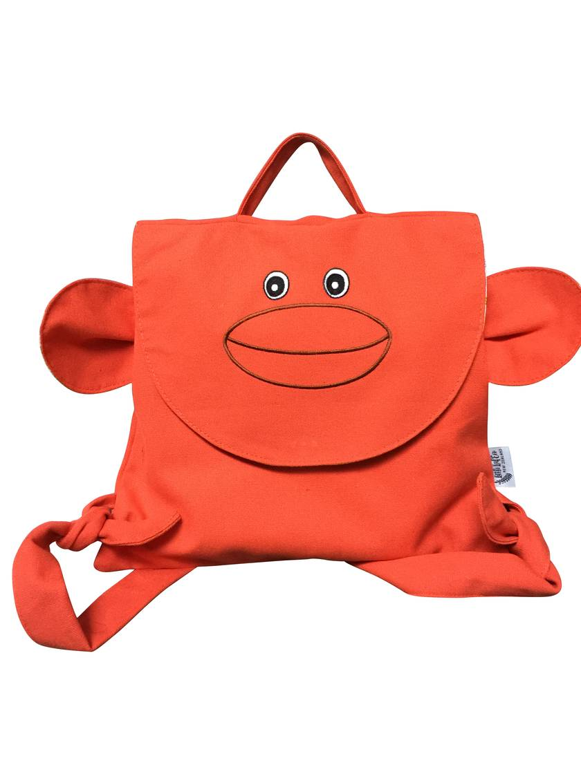 ORANGE MONKEY BACKPACK