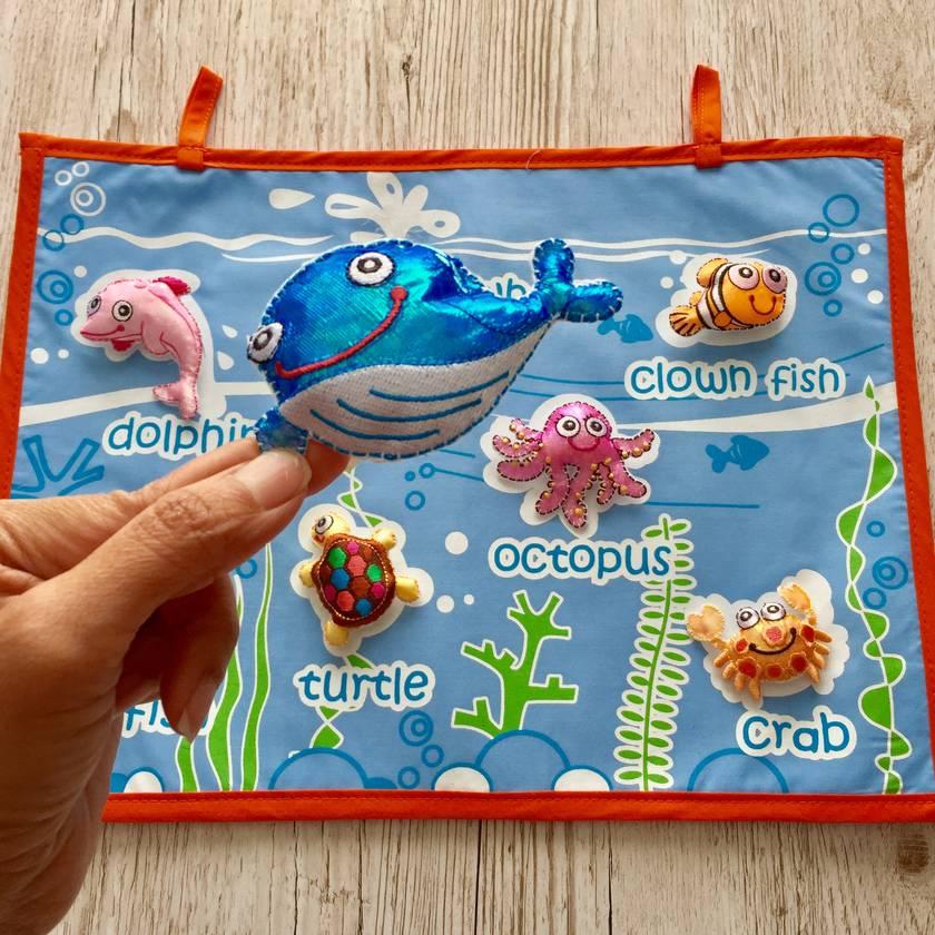 SEA CREATURES  FABRIC WALL CHART