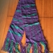 Hand woven scarf - purple and teal
