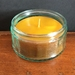 Natural beeswax candle in up-cycled glass jar