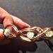 Copper and stone bangle