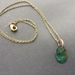 Small Oval Copper Necklace - Pounamu green patina