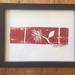Red Pohutukawa Woodblock print