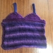 Knitted purple tank top - Super soft acrylic