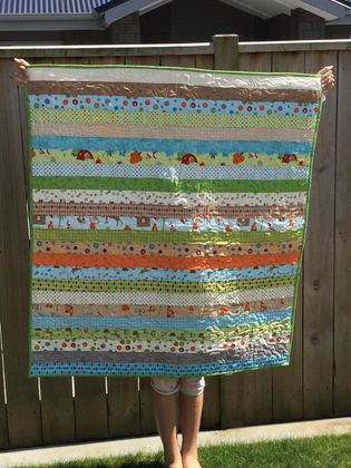 Boys wilderness camping quilt