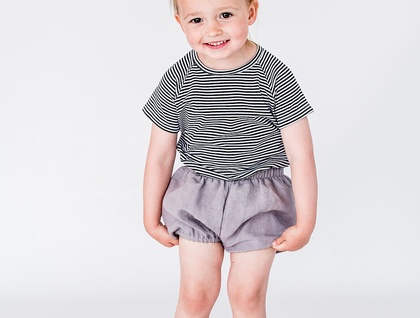 Linen Ivy Bloomers - Slate Grey - (SIZE 2, 3, 4 Years)