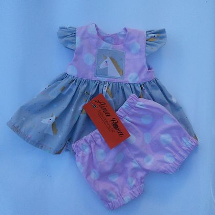 "Unicorn Dress and pants for 16"" doll"