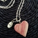 Pink Pottery Heart Necklace