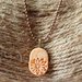 Orange Oval Pottery Necklace